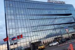 Обесмыливание и мойка панорамной шахты КВЦ ЭКСПОФОРУМ